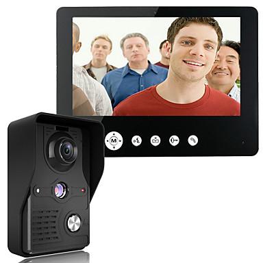 Mountainone 9 polegadas vídeo porta telefone campainha intercom kit 1 câmera 1 monitor de visão noturna