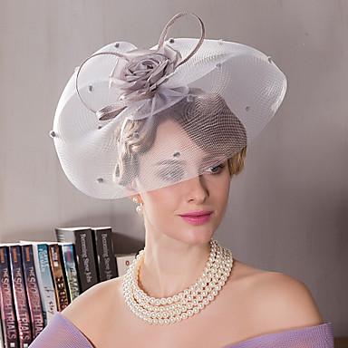 billige Hodeplagg til fest-Silke Kentucky Derby Hat / pannebånd med 1 Bryllup / Spesiell Leilighet / utendørs Hodeplagg