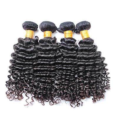 βραζιλιάνα σγουρά μαλλιά ύφανση, 4 τεμ / πολύ ελεύθερη ναυτιλία Βραζιλιάνα βαθιά κύμα παρθένο μαλλιά