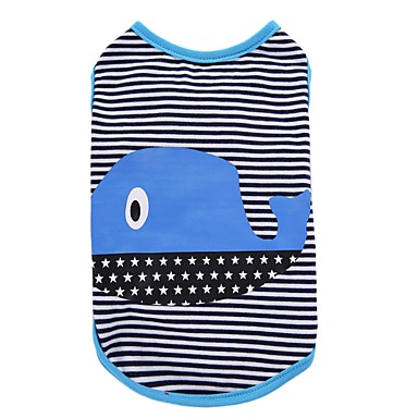 Dog Shirt / T-Shirt Vest Dog Clothes Stripe Green Blue Cotton Costume For Pets Men's Women's Party Casual/Daily Holiday Birthday Fashion