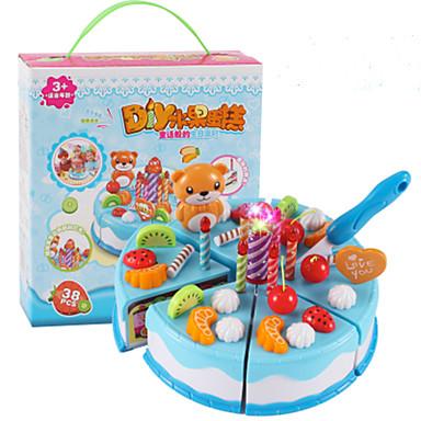 Conjuntos Toy Cozinha Comida de Brinquedo Brinquedos de Faz de Conta Cortadores de Bolos e Bolachas Sobremesa Bolo Fruta Simulação PVC