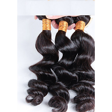 prix pas cher cheveux brésiliens 3 pcs / lot Livraison gratuite, 3 faisceaux brésilien desserrent la vague vierge de cheveux remy