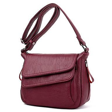 للمرأة أكياس PU حقيبة كروس سادة أحمر / رمادي / أرجواني
