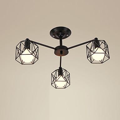 3-luz Montagem do Fluxo Luz Ambiente - Designers, 110-120V / 220-240V Lâmpada Não Incluída / 10-15㎡ / E26 / E27