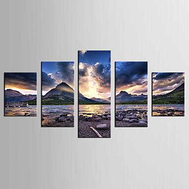 Reprodukce fotografií Krajina Styl Moderní,Pět panelů Plátno jakýkoliv tvar Grafika Wall Decor For Home dekorace