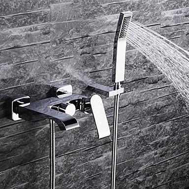 حنفية حوض الاستحمام - معاصر الكروم مثبت على الحائط صمام سيراميكي / مقبضين ثلاثة ثقوب