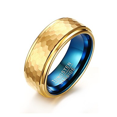 Homens Chapeado Dourado Anel - Redonda Formato Circular Forma Geométrica Personalizada Básico Euramerican Fashion Estilo simples Cores