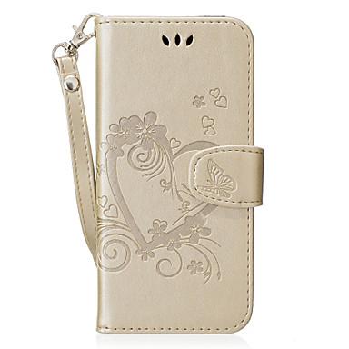 Capinha Para Samsung Galaxy S8 Plus / S8 Carteira / Porta-Cartão / Com Suporte Capa Proteção Completa Coração Rígida PU Leather para S8 Plus / S8