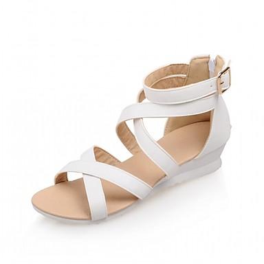Mulheres Sapatos Courino / Couro Ecológico Verão / Outono Conforto / Inovador / Sapatos clube Sandálias Caminhada Salto Robusto Ponta