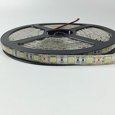 5m شرائط قابلة للانثناء لأضواء LED 300 المصابيح 5050 SMD أبيض دافئ / أحمر / أزرق تحكم عن بعد / قابل للقص / تخفيت 12 V / IP65 / ضد الماء / قابلة للربط / مناسبة للالسيارات / اللصق التلقي