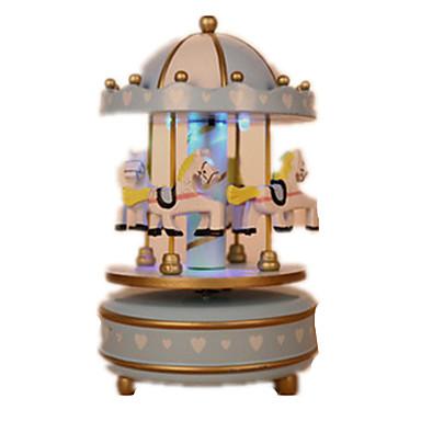 Caixa de música Madeira Circular O Castelo no Céu Presente Unisexo Dom