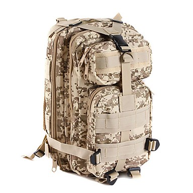 cheap Hunting & Nature-Backpack 25 L - Waterproof Wearable Multifunctional Outdoor Camping / Hiking Leisure Sports Traveling Camouflage Brown