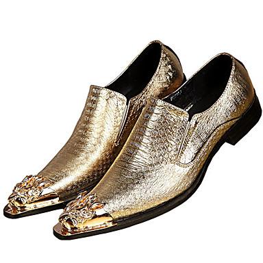 للرجال أحذية رسمية Leather نابا ربيع / خريف أوكسفورد ذهبي / فضي / الحفلات و المساء / أحذية الجدة