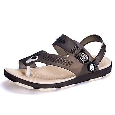 Pánské Obuv Silikon Jaro Léto Pohodlné Sandály Pro Ležérní Černá Šedá Modrá