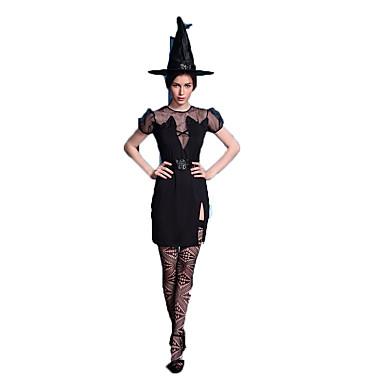 Cosplay Kostüme Zauberer/Hexe Fest/Feiertage Halloween Kostüme Andere Kleid Mützen Tanga Halloween Frau Elasthan Terylen