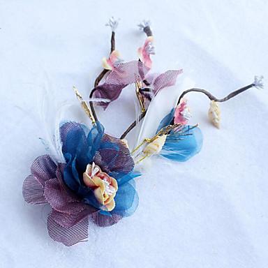 Tule Pena Tecido Rede Liga Flores 1 Casamento Ocasião Especial Casual Ao ar livre Capacete