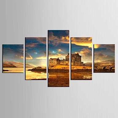 Digitálně vytištěné reprodukce Krajina Klasické Moderní,Pět panelů Plátno jakýkoliv tvar Grafika Wall Decor For Home dekorace