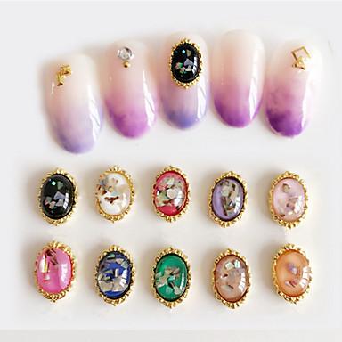 10pcs Glitters Fashion Alta qualidade Nail Art Design Diário