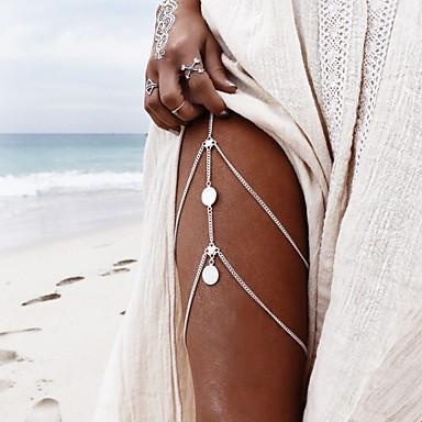 Fotlenke سلسلة رقم بوهيميان للمرأة ذهبي / فضي مجوهرات الجسم من أجل فضفاض / الرياضة