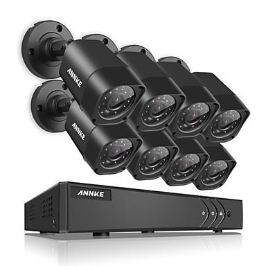 annke® 8ch 8 pcs 720 p câmera de vídeo hd 4em1 dvr ip rede de vigilância em casa sistema de segurança de cctv com 1080 p hdmi à prova d 'água ir vison noite
