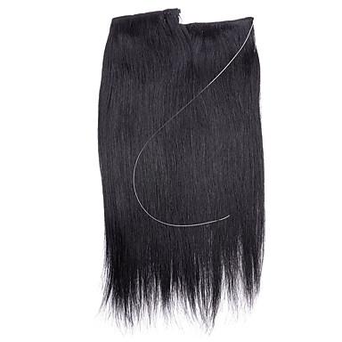 16100% lidské vlasy neviditelná drátěná ruční páska rozšíření vlasů 80g (šíře 28cm)