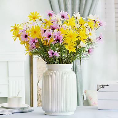 Flores artificiais 2 Ramo Estilo simples Margaridas Flor de Mesa / Não Incluído