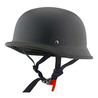 Capacete de meio rosto de moto capacete de rua fosco preto cruzado de abs