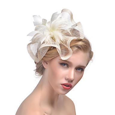 تول / ريشة قطع زينة الرأس مع 1 زفاف / مناسبة خاصة خوذة