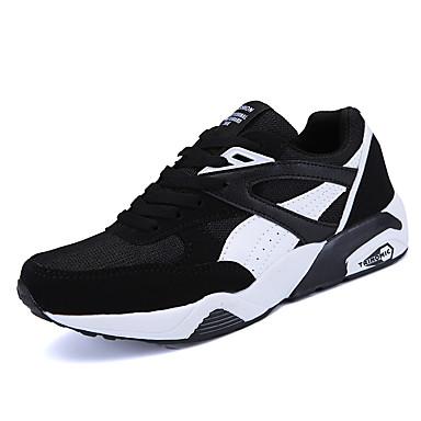 Homens sapatos Tule Primavera Outono Conforto Tênis Caminhada para Atlético Casual Escritório e Carreira Preto Cinzento Azul