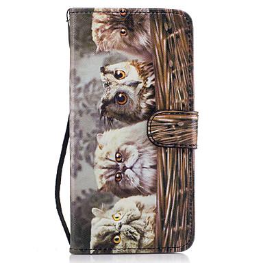 Capinha Para Samsung Galaxy S8 Plus S8 Porta-Cartão Carteira Com Suporte Flip Magnética Estampada Capa Proteção Completa Corujas Rígida