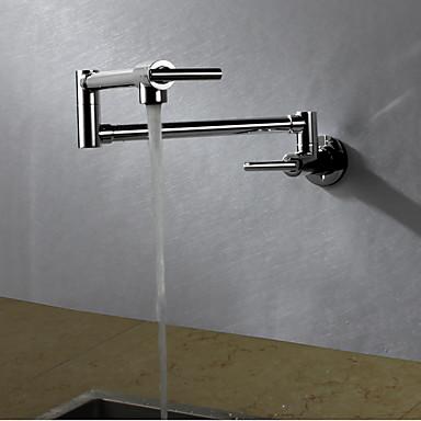 Moderna Arte Deco/Retro Modern pot Filler Torneira com Bica Alta bico padrão Montagem de Parede Chuveiro Tipo Chuva Rotativo Termostática
