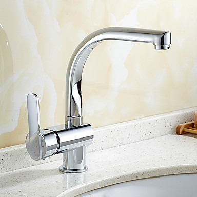 بالوعة الحمام الحنفية - قابل للتدوير الكروم في وسط التعامل مع واحد ثقب واحد
