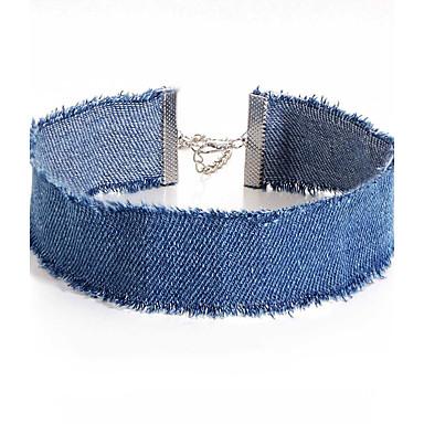 Mulheres Gargantilhas - Original Azul Escuro, Azul Claro Colar Jóias 1pç Para Festa, Diário, Casual