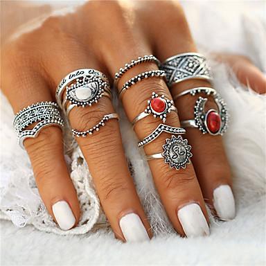 Χαμηλού Κόστους Μοδάτο Δαχτυλίδι-Γυναικεία Δαχτυλίδι Τυρκουάζ Λουλούδι κυρίες Unusual Geometric Μοναδικό Βίντατζ Μποέμ Μοδάτο Δαχτυλίδι Κοσμήματα Ασημί Για Χριστουγεννιάτικα δώρα Γάμου Πάρτι Ειδική Περίσταση Halloween Επέτειος