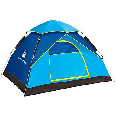 4 شخص خيم حقيبة الظهر منفرد أوتوماتيكي القبة خيمة التخييم في الهواء الطلق مقاوم للماء, مكتشف الأمطار, ضد الهواء إلى المشي لمسافات طويلة / تخييم ألياف الزجاج, أكسفورد