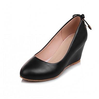 Mulheres Sapatos Courino / Couro Ecológico Verão / Outono Conforto / Inovador / Sapatos clube Saltos Caminhada Salto Plataforma Ponta