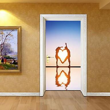 사람들 벽 스티커 3D 월 스티커 데코레이티브 월 스티커,비닐 자료 홈 장식 벽 데칼