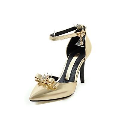 Mulheres Sapatos Materiais Customizados Verão / Outono Conforto / Tira no Tornozelo / Sapatos clube Sandálias Caminhada Salto Agulha Dedo