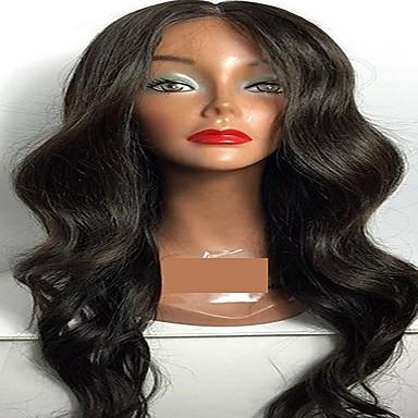 인모 전면 레이스 가발 바디 웨이브 130 % 1백80% 밀도 100% 핸드 타이드 흑인 가발 자연 헤어 라인 짧음 보통 긴 여성용 인모 레이스 가발