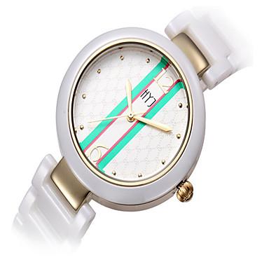 baratos Relógios Homem-Mulheres Relógio de Moda Quartzo Cerâmica Branco Analógico Branco