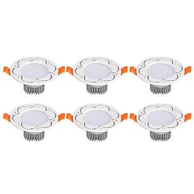 3W 6 LEDs Instalação Fácil Encaixe Downlight de LED Branco Quente Branco Frio AC 85-265V