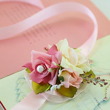Bouquets de Noiva Buquê de Pulso Casamento Festa / Noite Festa de Noivado Festa/Coquetel Tule Cetim 1.18