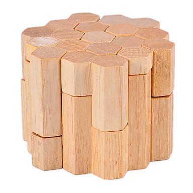 나무 퍼즐 IQ 두뇌 운동 루반 락 원통형 IQ 테스트 나무 남여 공용 선물