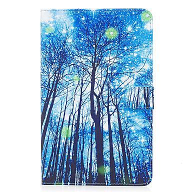 Capinha Para Samsung Galaxy Carteira / Porta-Cartão / Com Suporte Capa Proteção Completa Árvore Rígida PU Leather para Tab E 9.6