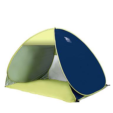 COME 3-4 사람 텐트 비치 텐트 싱글 캠핑 텐트 원 룸 자동 텐트 휴대용 자외선 방지 용 캠핑 여행 스테인레스 CM