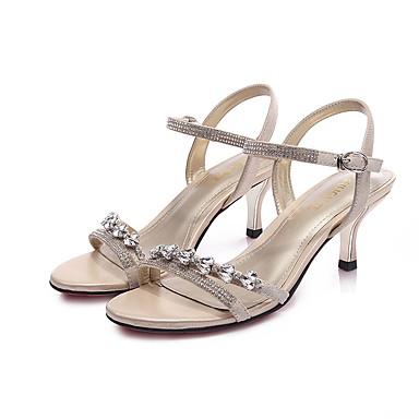 Chaussures Sandales Or Bride pour Noir Argent Bottier Arrière Eté Femme Polyuréthane A Talon Décontracté 05822629 wYPISndqx