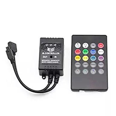 Supernight controlador de música infravermelho 20 chaves ir controlador remoto controlador de sensor de som para 5050 3528 5630 luz de tira conduzida rgb flexível