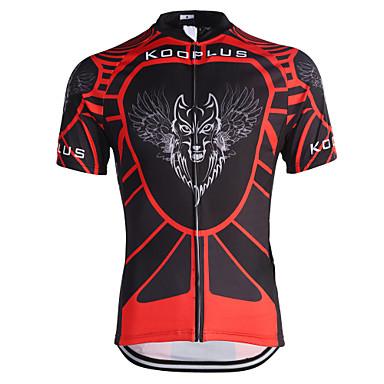 Kooplus Jerseu Cycling Bărbați Manșon scurt Bicicletă Jerseu Topuri Îmbrăcăminte Ciclism Uscare rapidă Respirabil Dungi Ciclism /