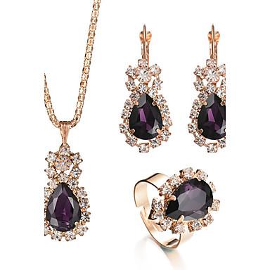 Women s Crystal Amethyst Jewelry Set Crystal ef82158d2414