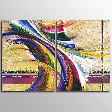 Leinwanddruck Abstrakt Modern,Zwei Panele Leinwand Horizontal Druck Wand Dekoration For Haus Dekoration